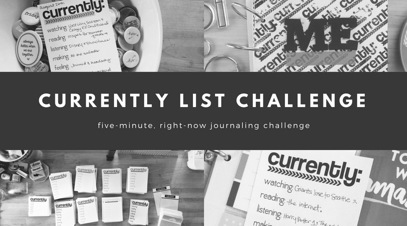 currently list journaling challenge