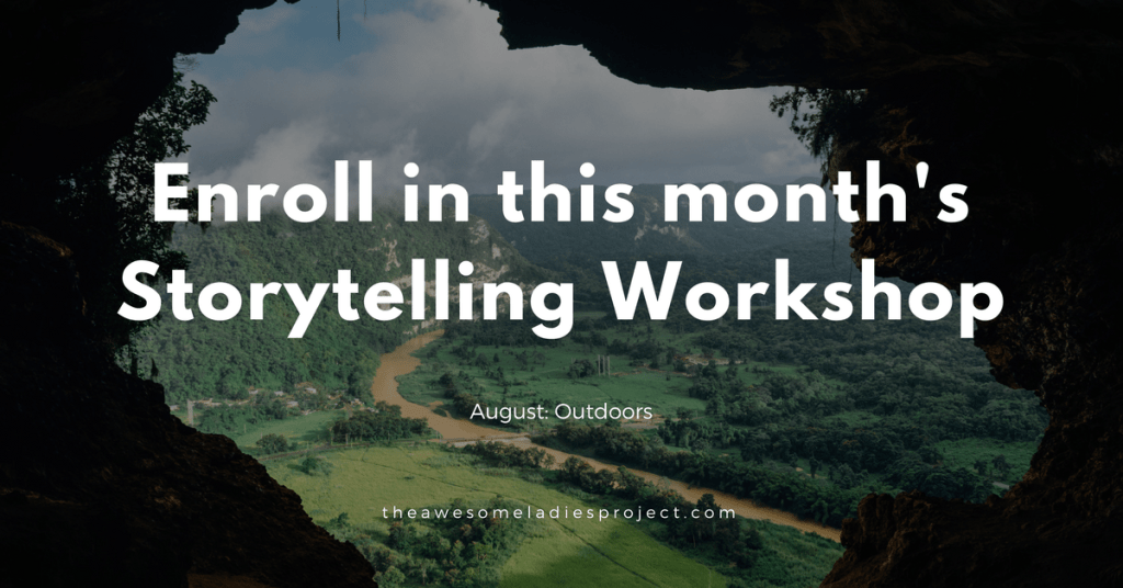 Enroll in this month's storytelling workshop