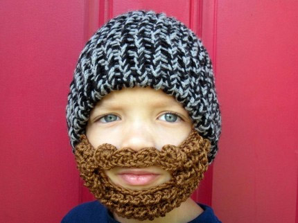 Bearded Knit Kids Beanie