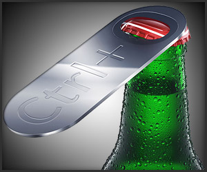 Ctrl + O Bottle Opener by art lebedev