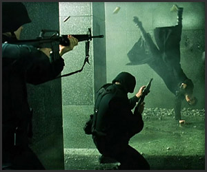 Matrix Lobby Gunfight Scene