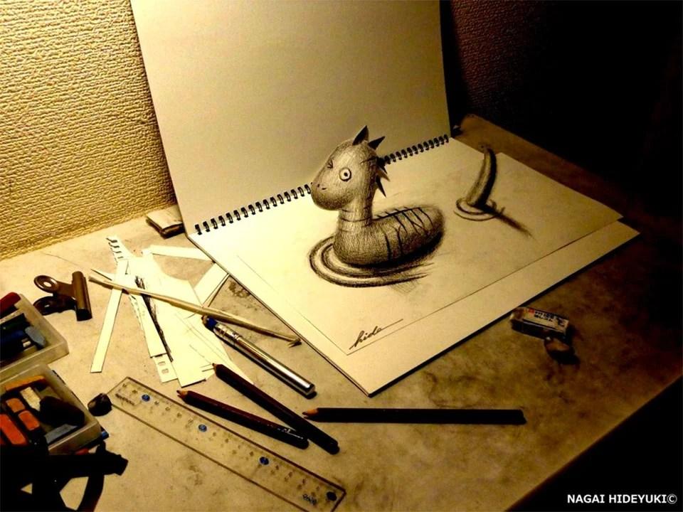 3D Illusion Sketches