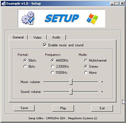 SetuProject Audio tab