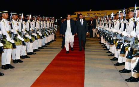 Imran Khan arrives in Malaysia along with delegation