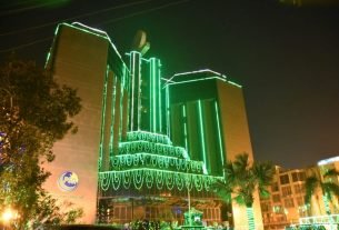 PSO celebrates EId Milad un Nabi by illuminating head quarters
