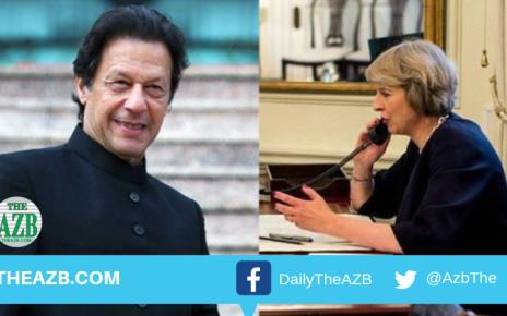 Theresa May and Imran Khan