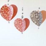Как сделать объемные сердечки из бумаги