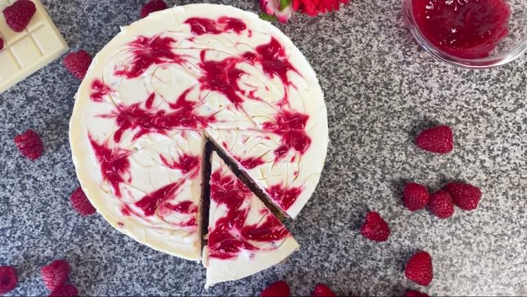 No Bake White Chocolate And Raspberry Cheesecake Recipe | Raspberry Swirl Cheesecake Recipe | No Bake Cheesecake | No Bake White Chocolate Cheesecake Recipe | No Bake White Chocolate Raspberry Cheesecake Recipe | No Bake Raspberry Cheesecake | How To Make White Chocolate Cheesecake | How To Make Raspberry Cheesecake | How To Make White Chocolate And Raspberry Cheesecake |