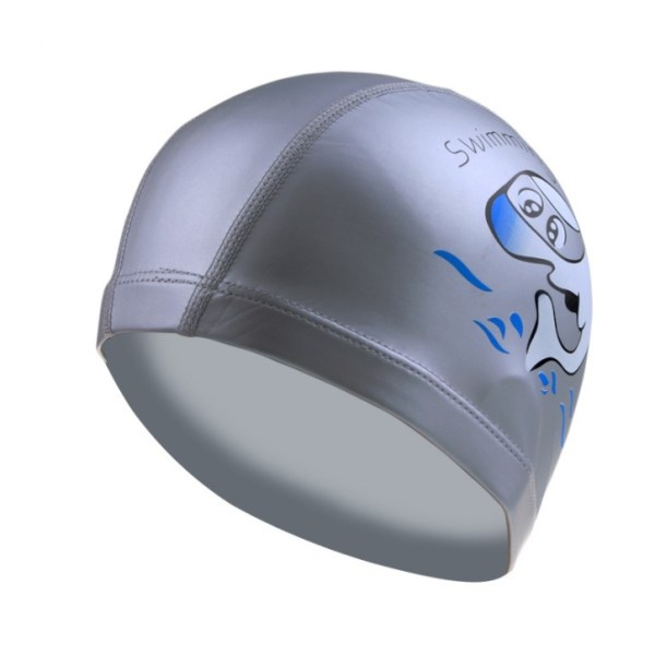 Children's PU Waterproof Swimming Cap