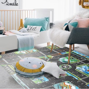 Road Game Mat Carpet Children Kids Car Toys