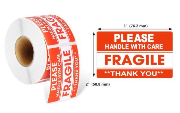 Fragile Sticker-3x2