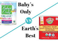 Baby's Only vs. Earth's Best Formula