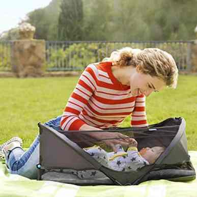 brica fold n' go travel bassinet