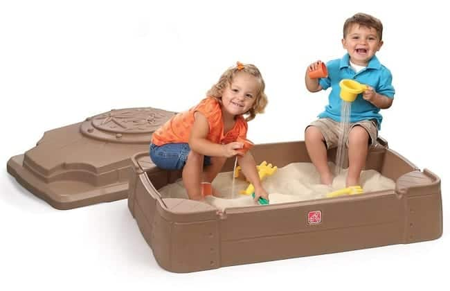 Sandbox with Sand Toys