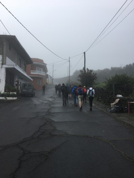 The first day walking to Montana Negra - the hot weather and walking = high blood sugars