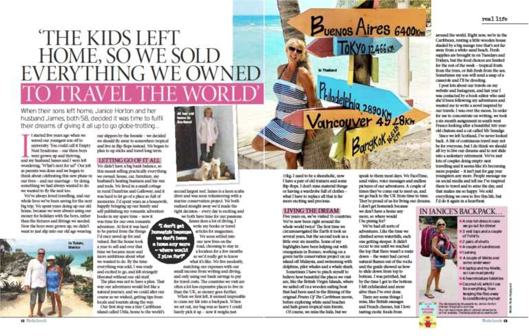 The Sunday Mirror with Janice Horton The Backpacking Housewife