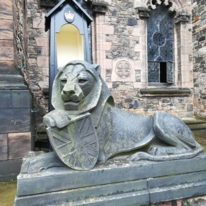 Edinburgh castle lion