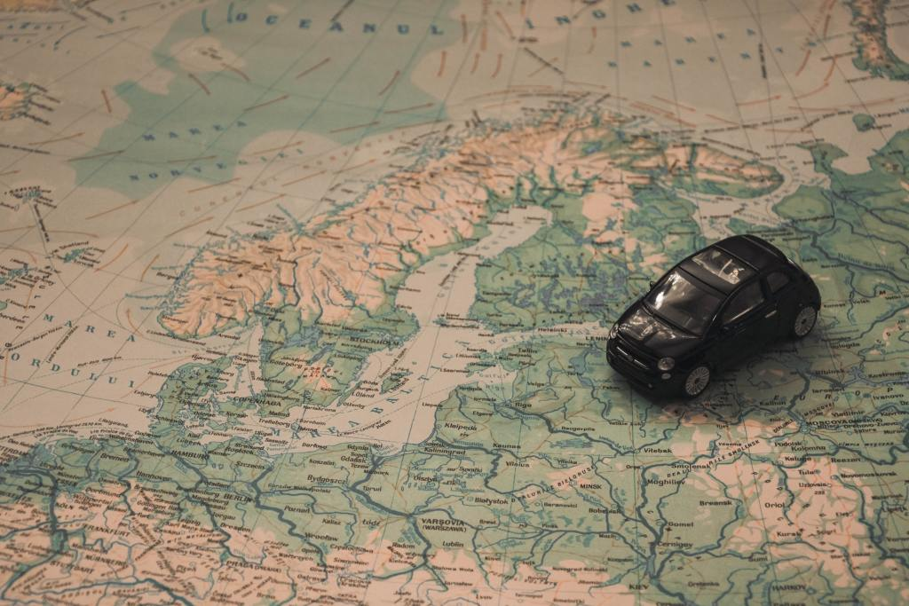 Fiat 500 On A Map