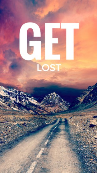 GET LOST - Free inspirational travel desktop & phone wallpaper