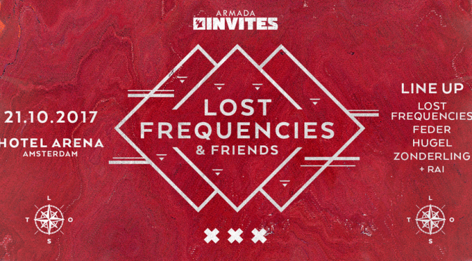 ARMADA INVITES: LOST FREQUENCIES & FRIENDS RETURNS TO ADE 2017