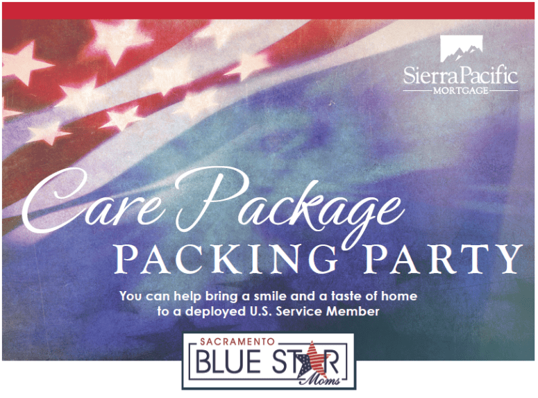 Care Package Packing Party Flyer