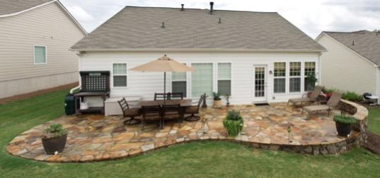 15 Fantastic Flagstone Patio Design Ideas on Small Backyard Stone Patio Ideas id=75749