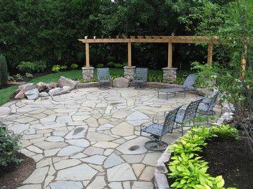 15 Fantastic Flagstone Patio Design Ideas on Small Backyard Stone Patio Ideas id=93080
