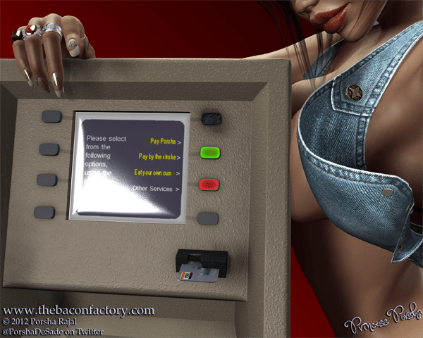 Human ATM | Niteflirt Phone Sex Money Slavery Financial Domination Humiliation Erotic Abuse | The Bacon Factory | thebaconfactory.com
