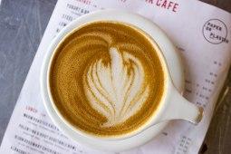 Almond Milk Latte at Paper or Plastik Cafe in Los Angeles, CA