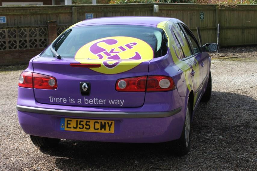 UKIP branded car