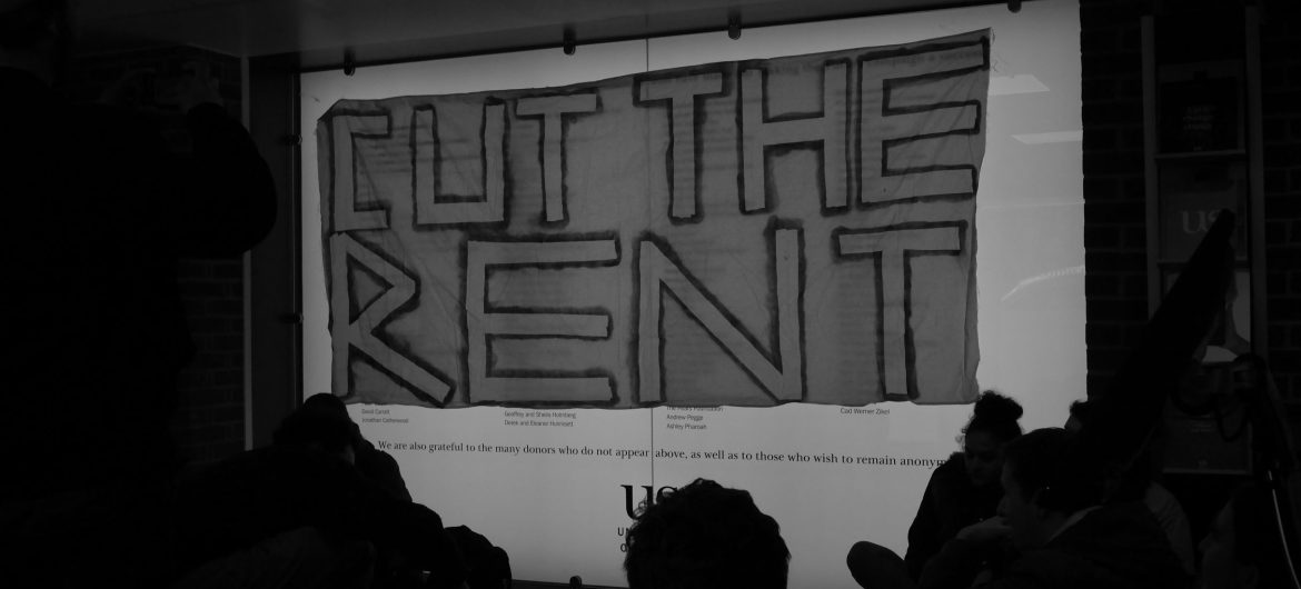 Cut the rent protest