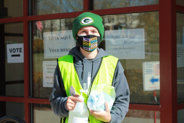 Liam Sullivan, 18, voted at Hillside Terrace Family Resource Center in Milwaukee. Photo: Niamh Rahman.