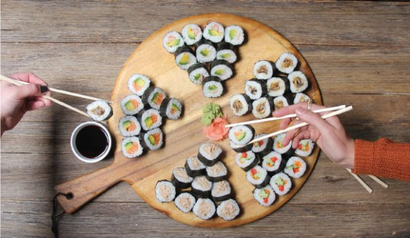Sushi Platter from The Bagel Co. Rose Bay and the Eastern Suburbs