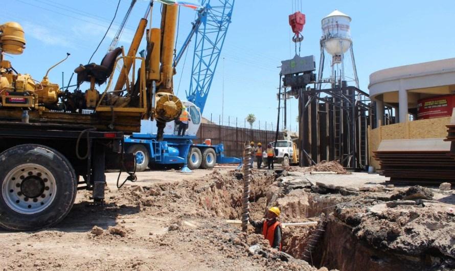 Avanza construcción del paso deprimido en Garita Oeste Mexicali- Calexico; SCT