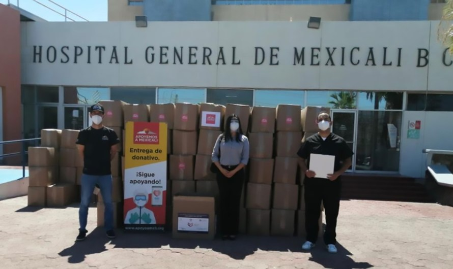 Mexicali general hospital received 7 million pesos donation from Bilbao Vizcaya Bank and the NGO Ayudemos a Mexicali