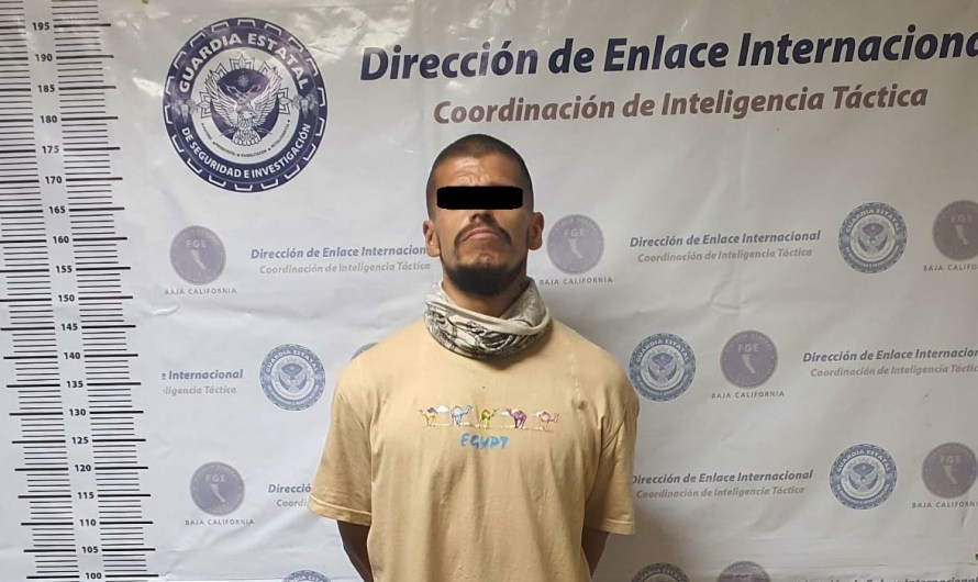 Juan Antonio «X» fled from California violating parole and hid in Mexicali, arrested by State Guard