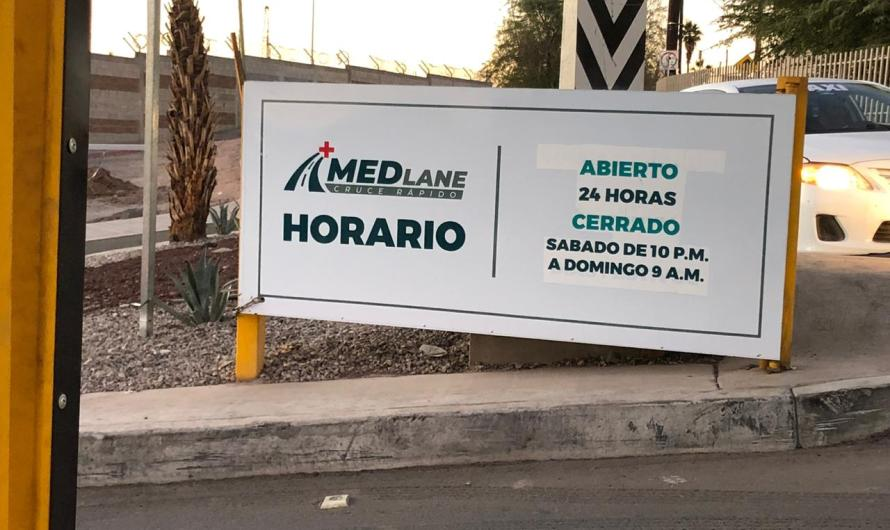 El carril Medical Lane deja de estar supervisado por el Ayuntamiento de Mexicali