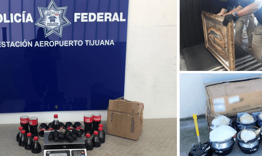 400 LSD hits, 100 ecstasy pills and one kilo of weed seized from a Tijuana parcel Company