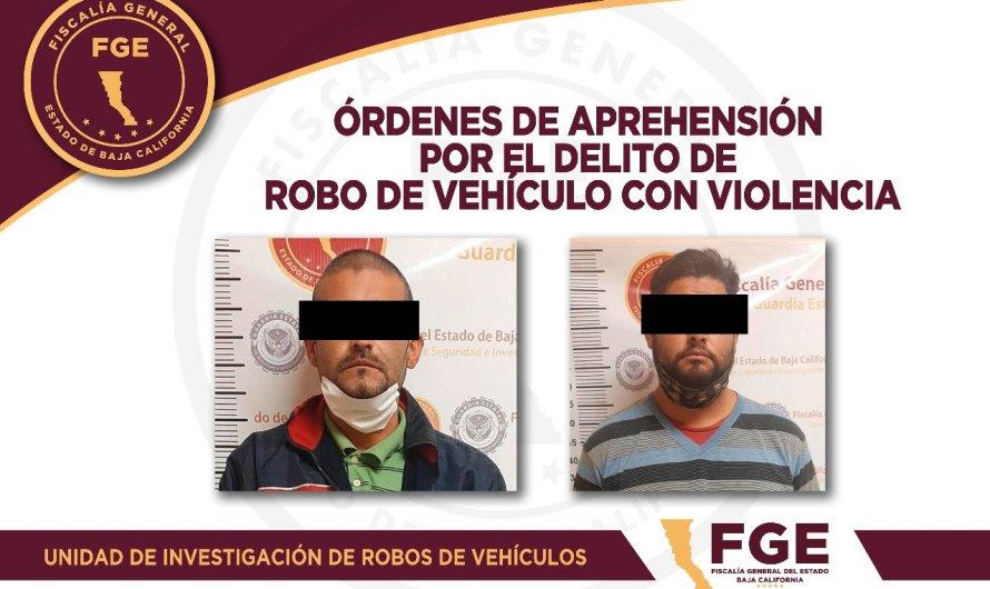 Detiene la Fiscalía General del EStado a dos presuntos culpables de robo de auto con violencia