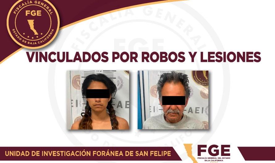 Vincula FGE a dos en San Felipe, un hombre que lesionó a otro en la cabeza con un machete y una mujer que robó un celular