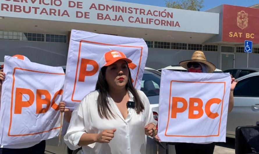Cierre simbólico del SAT Estatal en Mexicali, organizada por Luz Elena Fonseca candidata del PBC