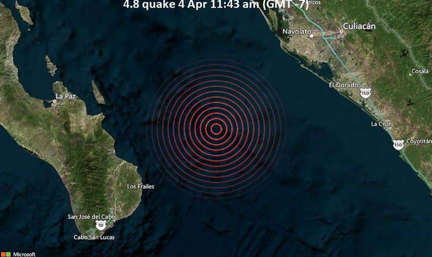 Two earthquakes hit Los Cabos and La Paz area in Baja Sur last Sunday