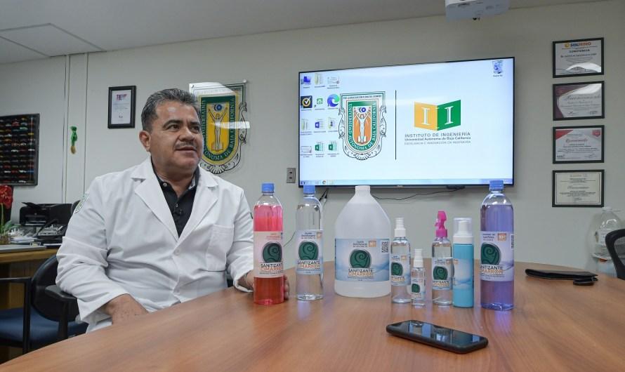 Instituto de Ingeniería de UABC, presenta el Sanitizante Cimarrón, con alto grado de calidad