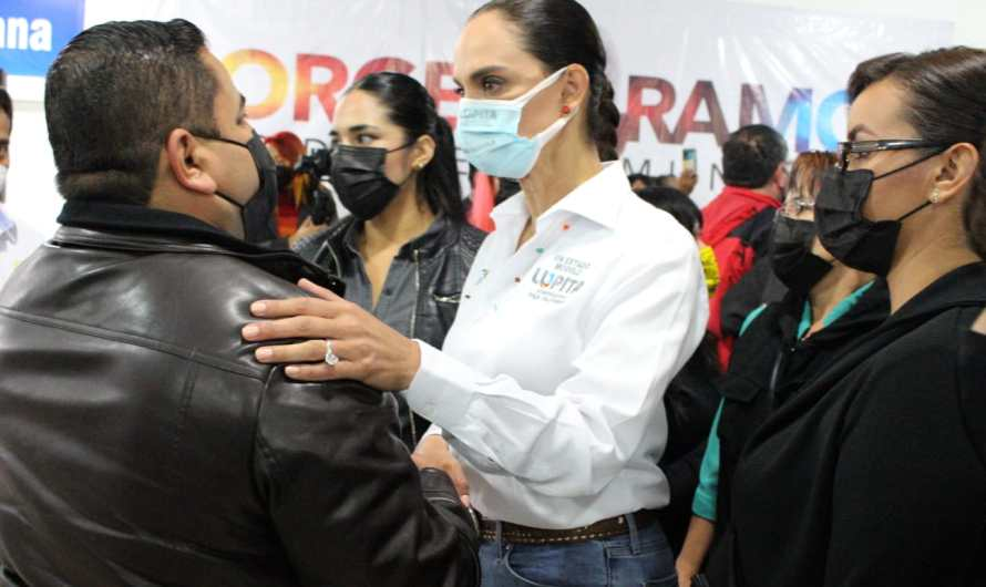 Vivienda digna para policías, promete Lupita Jones si gana la gubernatura el 6 de Junio