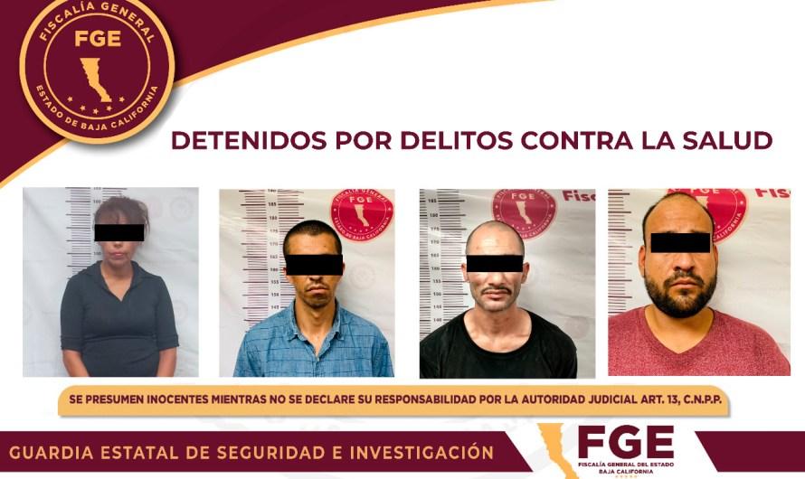 DETIENE FISCALÍA GENERAL DEL ESTADO A CUATRO PRESUNTOS NARCOMENUDISTAS