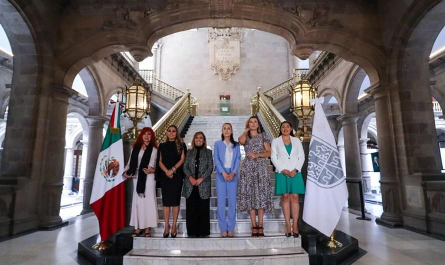 Refrendan Gobernadoras de MORENA su compromiso con la Cuarta Transformación en reunión en Ayuntamiento CdMx