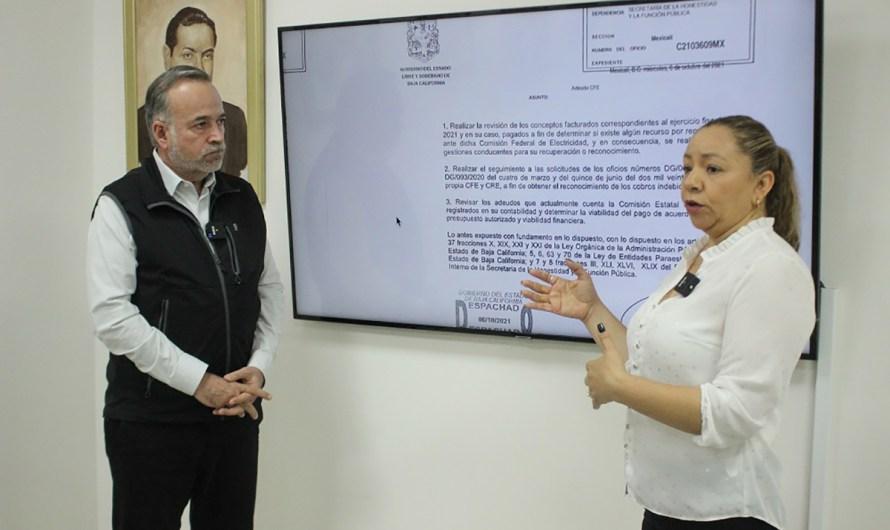 Anuncia Gobierno de Baja California acuerdo con Comisión Federal de Electricidad para liquidar deudo