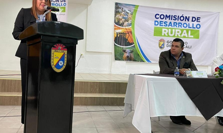 Encabeza regidora Edel dela Rosa Anaya Comisión de Desarrollo Rural del 24 Ayuntamiento de Mexicali