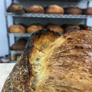 A Tartine White Sourdough loaf
