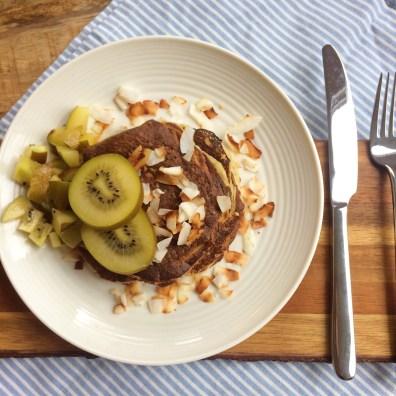 Kiwi-Banaan pancakes